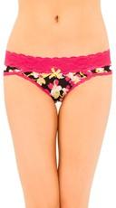 Black Floral Bikini Panty