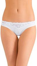 White Look Ahead Bikini Panty