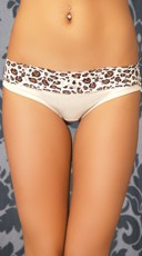 White and Cheetah Top Rated Hipster Panty