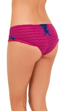 Pink and Blue Chevron Boyshort