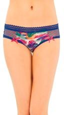 Tropical Print Sheer Panty