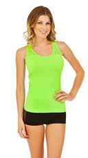 Lime Green Fishnet Racer Tank