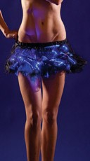 Glowing Black Petticoat Tutu