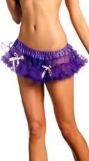 Purple Mini Petticoat With Multicolored Bows