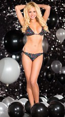 Sequin Rainbow Tri Top And Panty Set