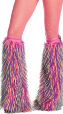 Multicolor Fuzzy Boot Covers