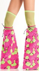Neon Spot Furry Boot Covers