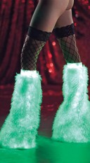 Glow In The Dark Furry Boot Covers
