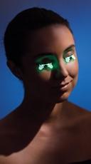 Glow in the Dark Laser Cut Floral Eyelashes