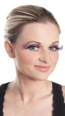 Curled Purple Eyelashes