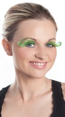 Curled Green Eyelashes