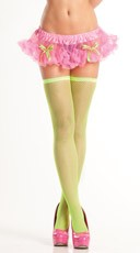 Pink Mini Petticoat with Green Bows