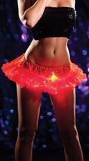 Red Light Up Mini Petticoat