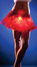 Short Red Light Up Petticoat
