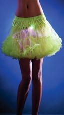 Green Mid Length Light Up Petticoat