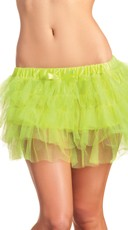 Lime Green Tiered Petticoat With Bow