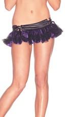 Mini Skirt With Tulle Overlay
