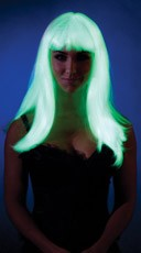 Glow In The Dark Wig with Bangs