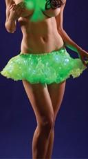 Short Neon Lime Light Up Petticoat
