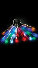 Multicolored Light Up Entire White Gloves