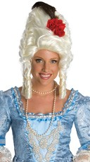 Red Rose Marie Antionette Wig