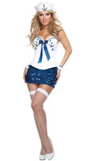 Deluxe Sequin Sailor Costume