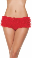Ruffled Sequin Hot Shorts