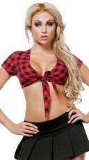 Smokin' Country Plaid Crop Top