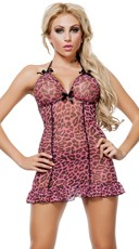 Pink Leopard Chemise