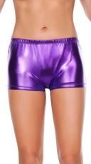 Elasticized Metallic Booty Shorts
