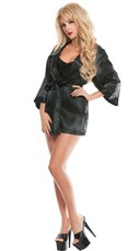 Satin Chemise and Robe Set