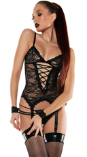 Captive Love Set with Camisole Cuffs and Thong