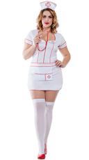 Plus Size Head Nurse Costume