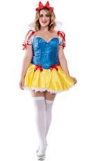 Plus Size Sequin Snow White Costume