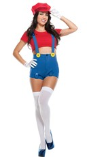 Red Jumping Plumber Costume