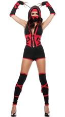 Fierce Red Ninja Costume