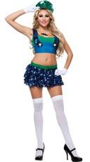 Sassy Green Plumber Costume
