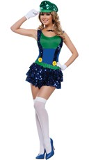 Dazzling Green Plumber Costume