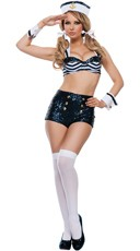 Sequin Retro Sailor Costume