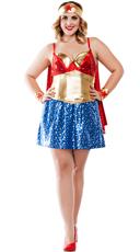 Plus Size Superhero Babe Costume