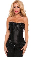 Glamorous Black Lace Up Corset