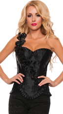 Plus Size Beautiful Roses Corset