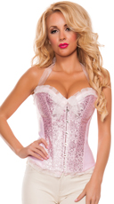 Plus Size Girly Baby Pink Corset