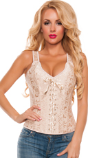 Champagne Lace-Up Corset