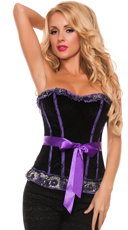 Plus Size Purple Goddess Two-Tone Corset
