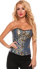 Plus Size Golden Goddess Brocade Corset