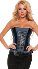 Road Warrior Faux Leather Corset