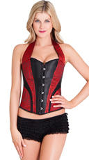 Red and Black Halter Corset