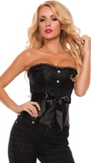 Totally Tempting Lace and Satin Corset