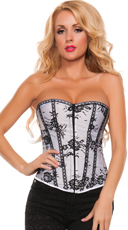 Lovely Lace Strapless Corset